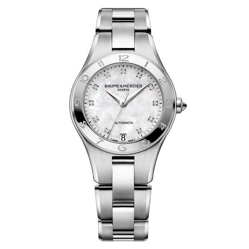 comprare on line 50cb6 bf8c9 Orologio Donna Baume & Mercier Linea 10074 Diamanti Madreperla Automatico