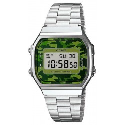 Acquistare Orologio Unisex Casio Collection A168WEC-3EF Mimetico Multifunzione Digital