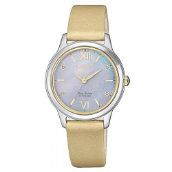 Orologio Citizen Donna Lady Super Titanio EM0724-17Y Diamanti Madreperla