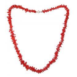 Collana in Corallo Rosso e Argento Donna CR121