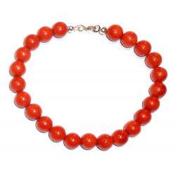 Bracciale in Corallo Rosso e Argento Donna CR127