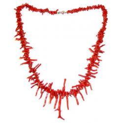 Collana in Corallo Rosso e Argento Donna CR216