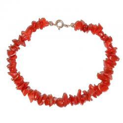 Bracciale in Corallo Rosso e Argento Donna CR218