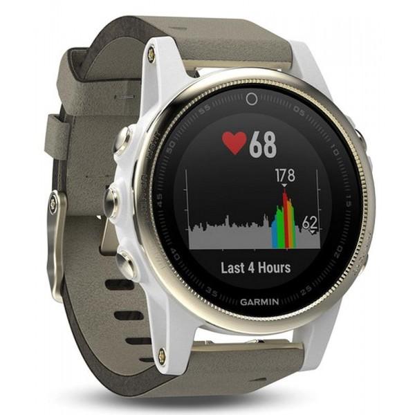 Acquistare Orologio Unisex Garmin Fēnix 5S Sapphire 010-01685-13 GPS Smartwatch Multisport