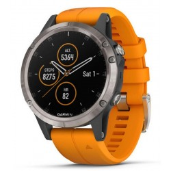 Orologio Uomo Garmin Fēnix 5 Plus Sapphire 010-01988-05 GPS Smartwatch Multisport