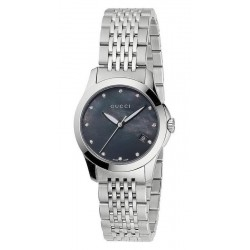 Acquistare Orologio Donna Gucci G-Timeless Small YA126505 Diamanti Madreperla