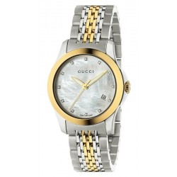 Acquistare Orologio Donna Gucci G-Timeless Small YA126513 Diamanti Madreperla