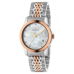 Acquistare Orologio Donna Gucci G-Timeless Small YA126514 Diamanti Madreperla