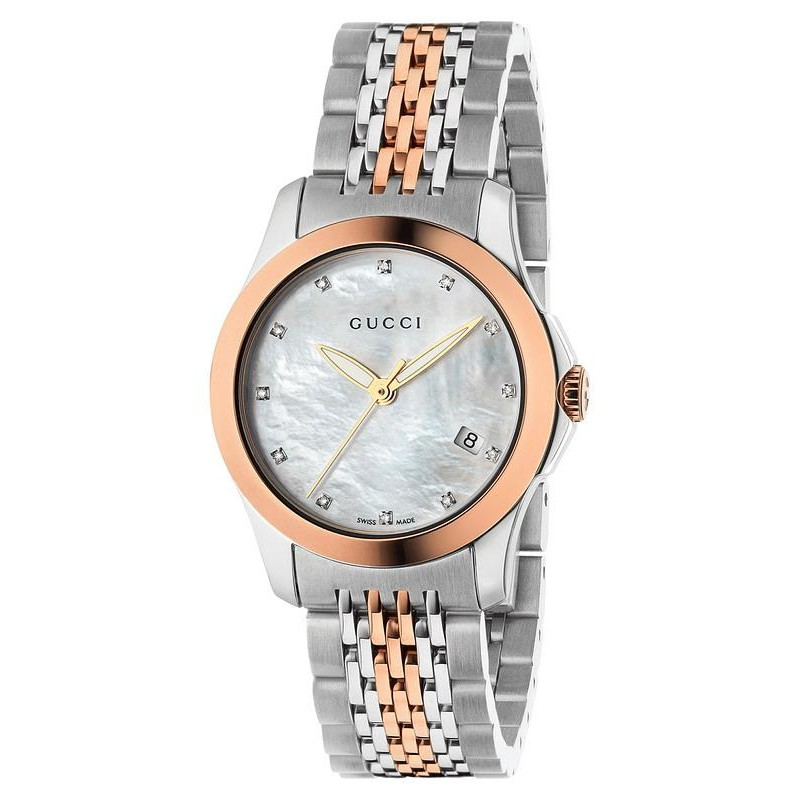 ad50d3e34b0 Orologio Donna Gucci G-Timeless Small YA126514 Diamanti Madreperla ...