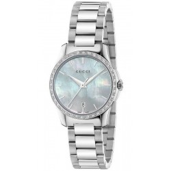 Acquistare Orologio Donna Gucci G-Timeless Small YA126525 Diamanti Madreperla
