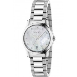 Orologio Donna Gucci G-Timeless Small YA126542 Diamanti Madreperla