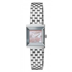 Acquistare Orologio Donna Gucci G-Frame Medium YA128401 Diamanti Madreperla