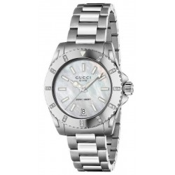 Acquistare Orologio Donna Gucci Dive Medium YA136405 Diamanti Madreperla