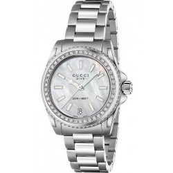 Acquistare Orologio Donna Gucci Dive Medium YA136406 Diamanti Madreperla