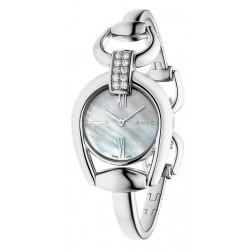 Orologio Donna Gucci Horsebit Small YA139504 Diamanti Madreperla