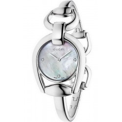 Orologio Donna Gucci Horsebit Small YA139506 Diamanti Madreperla