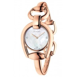 Orologio Donna Gucci Horsebit Small YA139508 Diamanti Madreperla