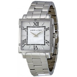 Acquistare Orologio Donna Hamilton Jazzmaster Square H32291114 Diamanti Madreperla