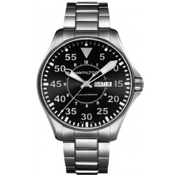 Orologio Uomo Hamilton Khaki Aviation Pilot Day Date Auto H64715135