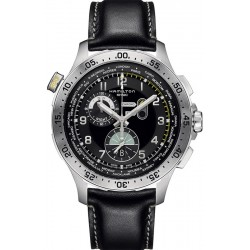 Orologio Uomo Hamilton Khaki Aviation Worldtimer Chrono Quartz H76714735