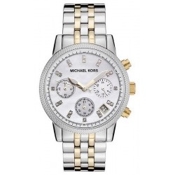 Orologio Donna Michael Kors Ritz MK5057 Cronografo Madreperla