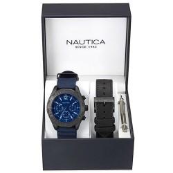 Orologio Uomo Nautica NST 402 Box Set NAI22508G Cronografo