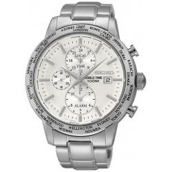 Orologio Uomo Seiko SPL047P1 World Time Cronografo Alarm Quartz