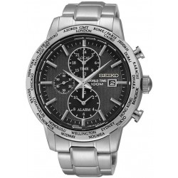 Orologio Uomo Seiko SPL049P1 World Time Cronografo Alarm Quartz