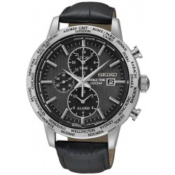 Orologio Uomo Seiko SPL049P2 World Time Cronografo Alarm Quartz