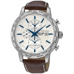 Orologio Uomo Seiko SPL051P1 World Time Cronografo Alarm Quartz