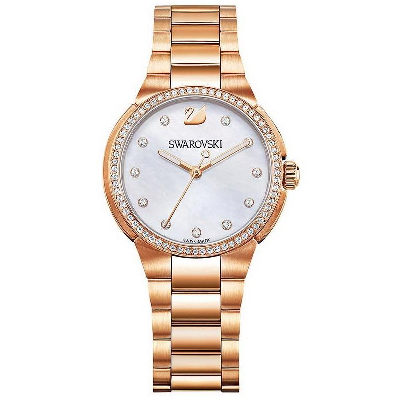 Montre Swarovski Femme City Mini Rose Gold Tone 5221176 Nacre