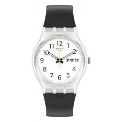 Orologio Unisex Swatch Gent Rinse Repeat Black GE726