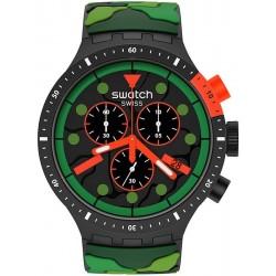 Orologio Swatch Big Bold Chrono Escapejungle SB02B409