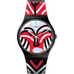 Orologio Unisex Swatch New Gent Mask Parade SUOB127