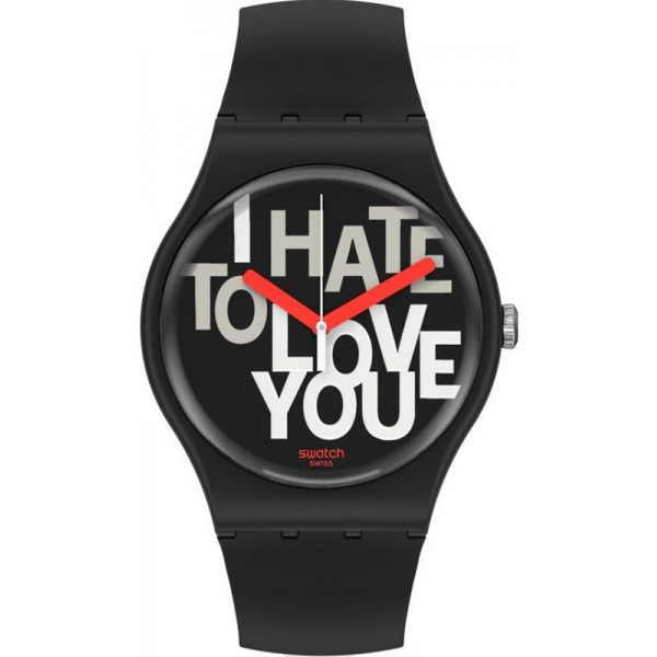 Orologio Unisex Swatch New Gent Hate 2 Love SUOB185