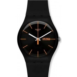 Orologio Unisex Swatch New Gent Dark Rebel SUOB704