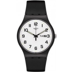 Orologio Unisex Swatch New Gent Twice Again SUOB705