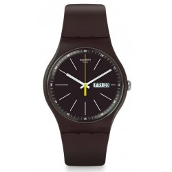 Orologio Unisex Swatch New Gent Blue Browny SUOC704