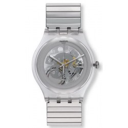 Orologio Unisex Swatch New Gent Cleared Up S SUOK105FB