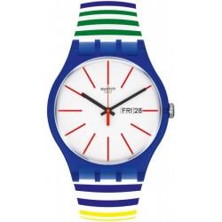 Orologio Unisex Swatch New Gent Home Stripe Home SUON715