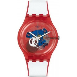 Orologio Unisex Swatch New Gent Clownfish Red SUOR102