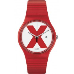 Orologio Unisex Swatch New Gent XX-Rated Red SUOR400