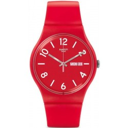 Orologio Unisex Swatch New Gent Backup Red SUOR705