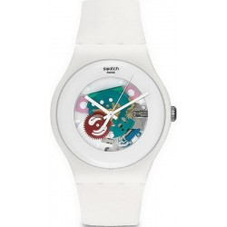 Orologio Unisex Swatch New Gent White Lacquered SUOW100
