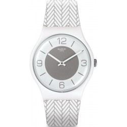 Orologio Unisex Swatch New Gent White Glove SUOW131