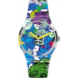 Orologio Unisex Swatch New Gent Wall Paint SUOW133
