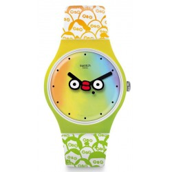 Orologio Unisex Swatch Club New Gent What's Yo Face? SUOZ303
