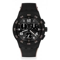 Acquistare Orologio Uomo Swatch Chrono Plastic Black Cord SUSB106