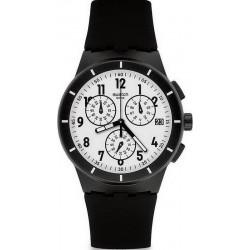 Orologio Unisex Swatch Chrono Plastic Twice Again Black SUSB401 Cronografo