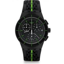 Acquistare Orologio Uomo Swatch Chrono Plastic Laser Track SUSB409 Cronografo
